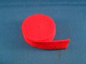 25C Red Nameboard Felt Strip